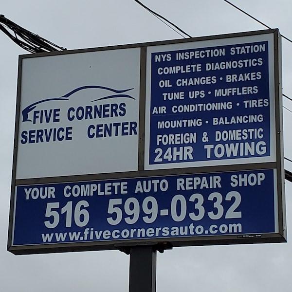 Five Corners Sign